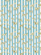 Clarence House Dogs Dice Stripes Toile Fabric 10 Yards Sky