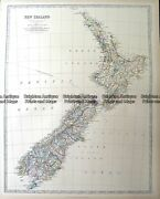Antique Map 7-062 - New Zealand By A K Johnston - Circa 1884