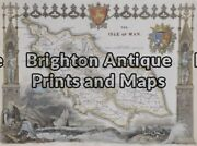 Antique Map 5-165 - England - Isle Of Man Moule - Circa 1840 Hand Coloured Steel