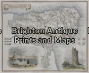 Antique Map 5-166 - England - Isle Of Thanet Moule - Circa 1840 Hand Coloured St