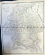 Antique Map 5-248 Russia In Europe By Johnston C.1857