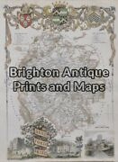 Antique Map 4-157 - England - Herefordshire Moule - Circa 1840 Hand Coloured Ste