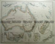 Antique Map 230-641 Australia And New Zealand By Fullerton C.1854