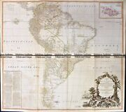 Antique Map 230-231 South America By Laurie And Whittle C.1794