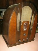 Philco Antique Cathedral Radiooutstanding May Not Be Fully Functional For Parts