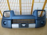 03-05 Honda Element Oem Front Bumper Cover W/ Plate Bracket Molded Blue And Silver