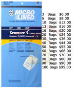 Kenmore Canister Vacuum Cleaner Bags Type C For Models 5055, 50557, And 50588