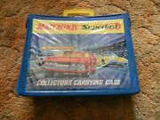 Matchbox Superfast Circa 1970 Collector's Carrying Case W/ 4 Trays And 24 Cars