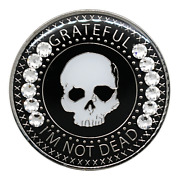 Na Alcoholics Anonymous Grateful Iand039m Not Dead W/bling Recovery Medallion Aa Coin