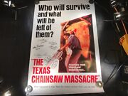 A-101 The Texas Chainsaw Massacre Poster Signed By 7 Cast Members No Reserve