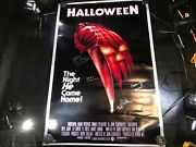A-102 Halloween Movie Poster Signed By 6 Cast Members Including John Carpenter