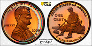 2009-s Usa Lincoln Cent Formative Years Pcgs Pr68rd Dcam Rainbow Color Toned