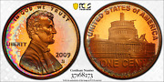 2009-s Lincoln Cent Presidency Pcgs Pr68rd Dcam Penny Color Toned Top Grade