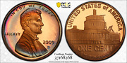 2009-s Lincoln Cent Presidency Pcgs Pr68rd Dcam Penny Color Toned Highest Grade
