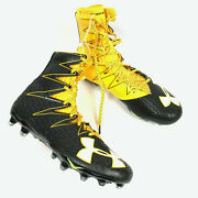 Under Armour Mens Highlight Rm Football Cleats Black Yellow Size 9
