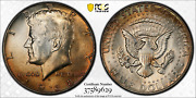 1968-d Pcgs Ms64 Kennedy Silver Half Dollar .50 Cents Golden Color Toned