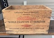 Vintage Western Cartridge Company Small Arms Ammunition Wood Crate East Alton Il