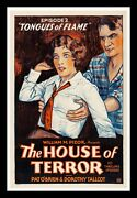 The House Of Terror ✯ Cinemasterpieces Tongues Of Flame Horror Movie Poster 1928