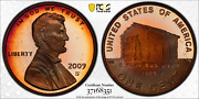 2009-s Lincoln Cent Early Childhood Pcgs Pr68rd Dcam Penny Crescent Toned 1348