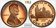 2009-s Lincoln Cent Professional Pcgs Pr69rd Dcam Penny Crescent Toned 1349