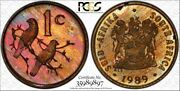 1989 South Africa 1 Cent Pcgs Pr65rb Proof Color Toned Coin Only 1 Graded Higher