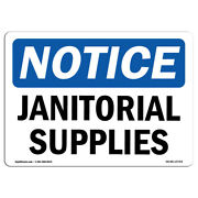 Osha Notice - Janitorial Supplies Sign | Heavy Duty Sign Or Label