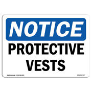 Osha Notice - Protective Vests Sign | Heavy Duty Sign Or Label