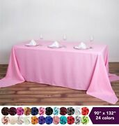 12 Pcs 90x132 Polyester Tablecloths Wedding Party Table Linens Events Home