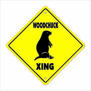 Woodchuck Crossing Decal Zone Xing Animals Wood Chuck Wild Groundhog Lover