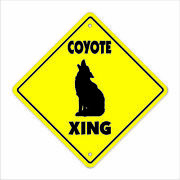 Coyote Crossing Decal Zone Xing Tall Animals Jackal Prairie Wolf Wild Lover