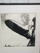 Led Zeppelin 1 Artist Plate Signed Lithographic Print 1990