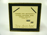 Farmers And Mechanics Citizens National Frederick Md Promotional Coin Bank No Key