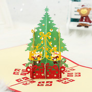 100x Pop Up 3d Card Merry Christmas Tree Greeting Baby Gift Holiday Happy Cards