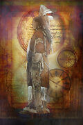 Indian Native American Limited Edition Handed Signed Numbered Print Dress
