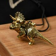 Triceratops Dinosaur 925 Sterling Silver Brass Charm Necklace Pendant Jewelry