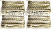 4 White And Gold Double Braided 1/2 In X 25and039 Ft Hd Boat Marine Dock Line Ropes