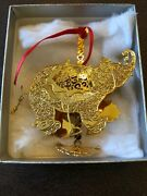 Wallace 24k Goldplate Etched Carousel Ornaments New In Box Usa Elephant