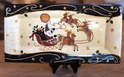 Lang Earthenware The Night Before Christmas Susan Winget Large 18 Tray Platter