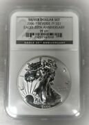 2006-p United States Silver Eagle Reverse Proof 20th Anniversary Ngc Pf69⭐273⭐v4