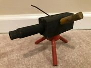 Vintage Wooden Toy Pea Shooter