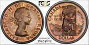 1958 Canada 1 Dollar Bu Unciculated Pcgs Genuine Unc Detail Cleaned Toned