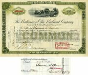 Baltimore And Ohio Railroad Company Issue To And Signed By Clarence S. Darrow -