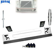 12 Volvo Vnl Clad Bumper With Spoiler And Led Fog Light Set 2004-17 Replacement