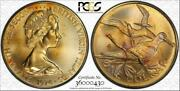 1974-m British Virgin Islands 1 Dollar Pcgs Ms65 Graded And Toned Only 12 Higher