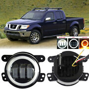 Led For Nissan Frontier 05-19 Clear Lens Pair Bumper Fog Light Lamp Replacement