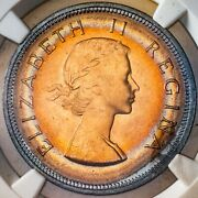 1960 South Africa 1 Penny Ngc Ms65rb Star Toned Color Bu Gem Unc Choice Dr