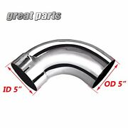 5 Id/od Chrome 90 Degree Exhaust Elbow - 10 Arms