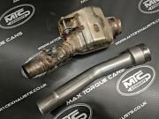 Kawasaki H2 Se And H2 Sx Stainless De-cat Exhaust Pipe Cnc Mandrel Bent C/w Clamp