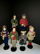 Christmas Holiday Carolers 6 Figurines - 4 Men And 2 Women - Vintage