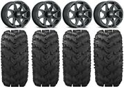 Itp Twister 14 Wheels Milled 28 Reptile Tires Polaris Ranger Xp 9/1k